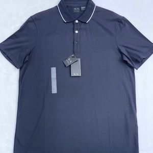A|X Armani Exchange Navy polo shirt Large NEW